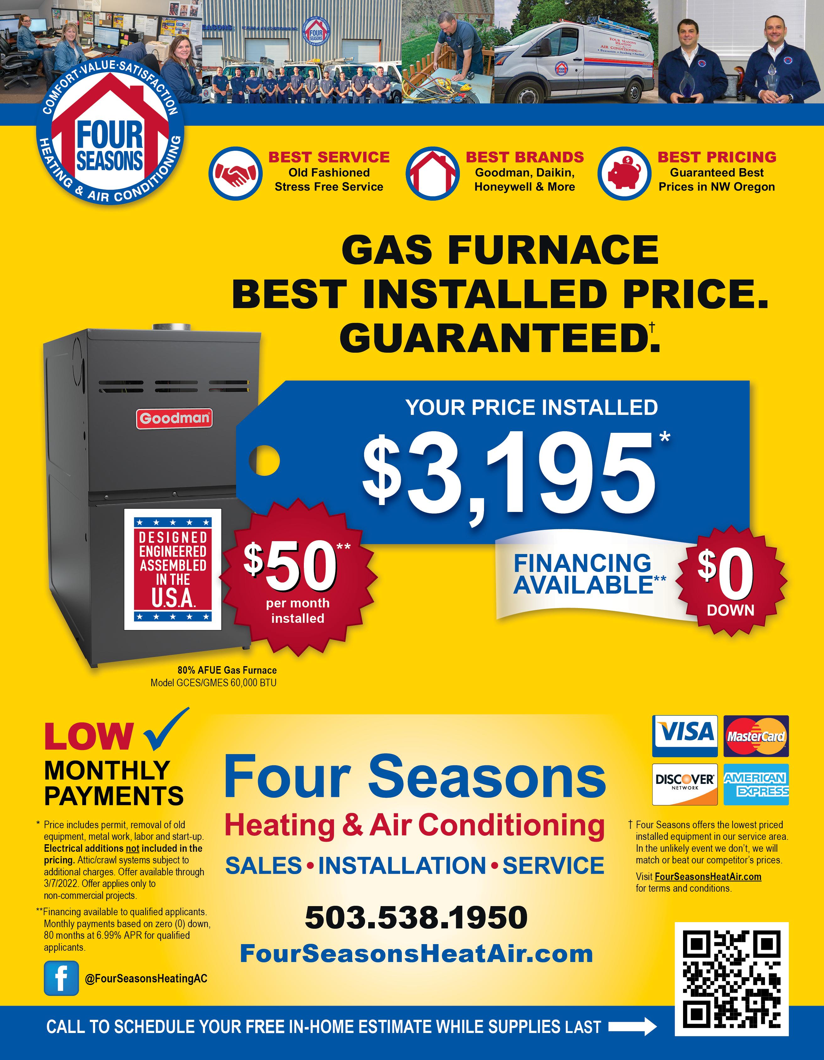 Four seasons AC & Heating Coupons