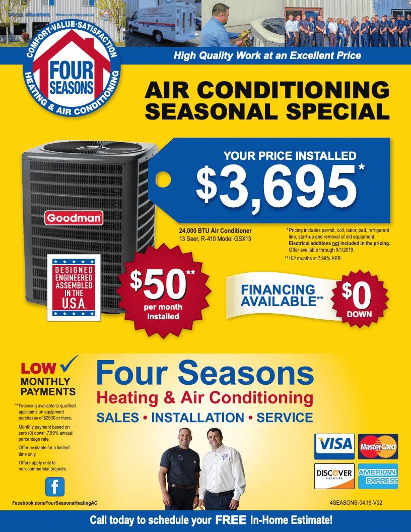 Four Seasons Heating & Air Conditioning Seasonal Specials